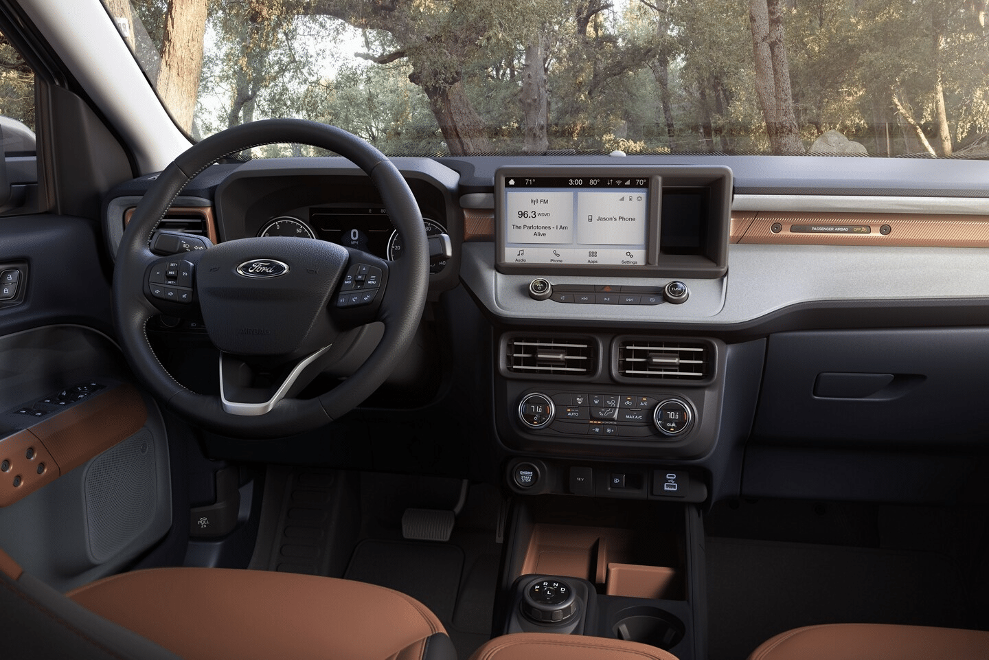 The 2022 Ford Maverick Lariat XL boasts an 8 inch center touch screen
