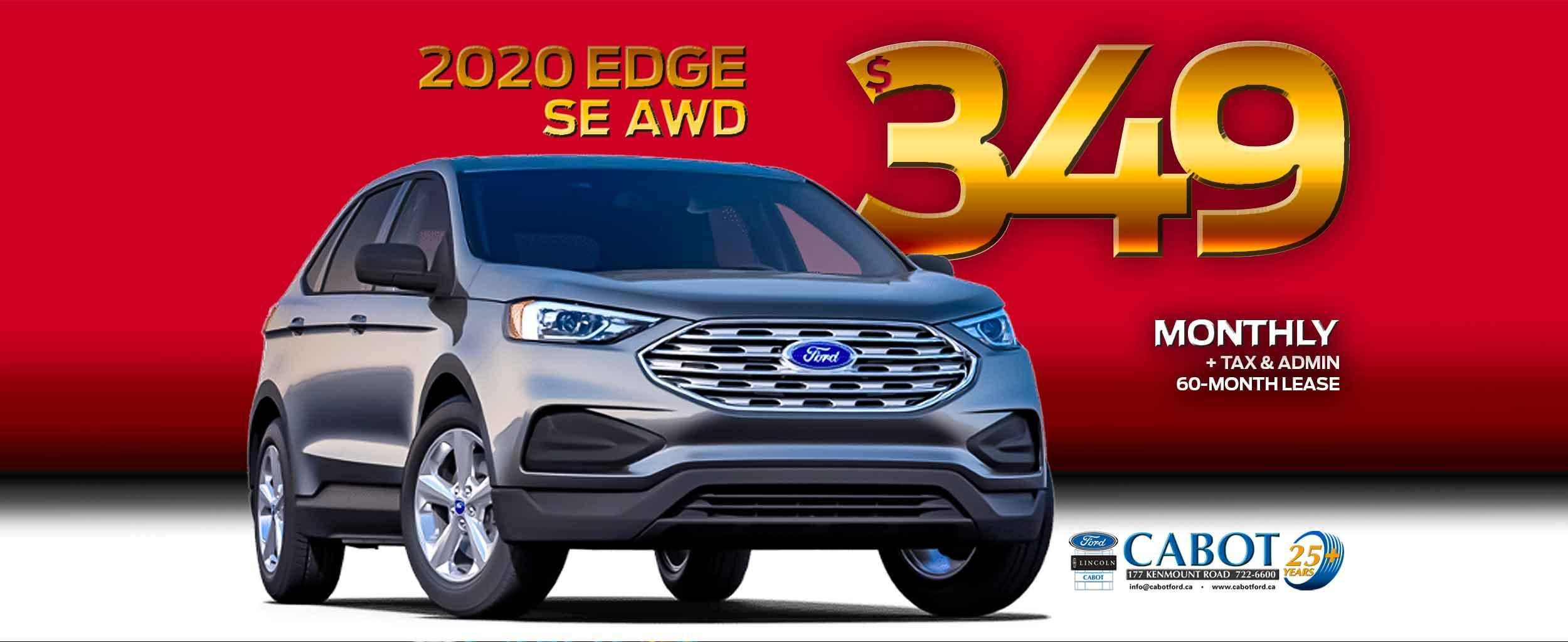 Lease a new Ford Edge for $349 monthly!