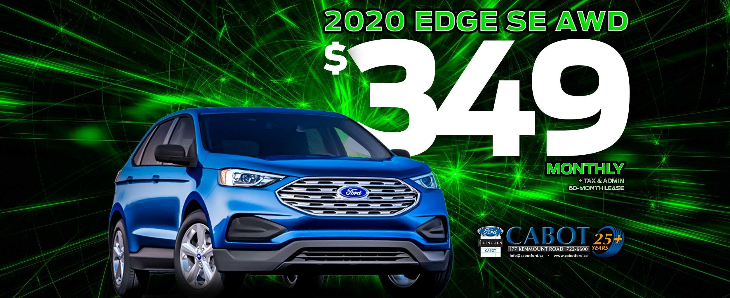 2020 Ford Edge SE AWD for $349 monthly!