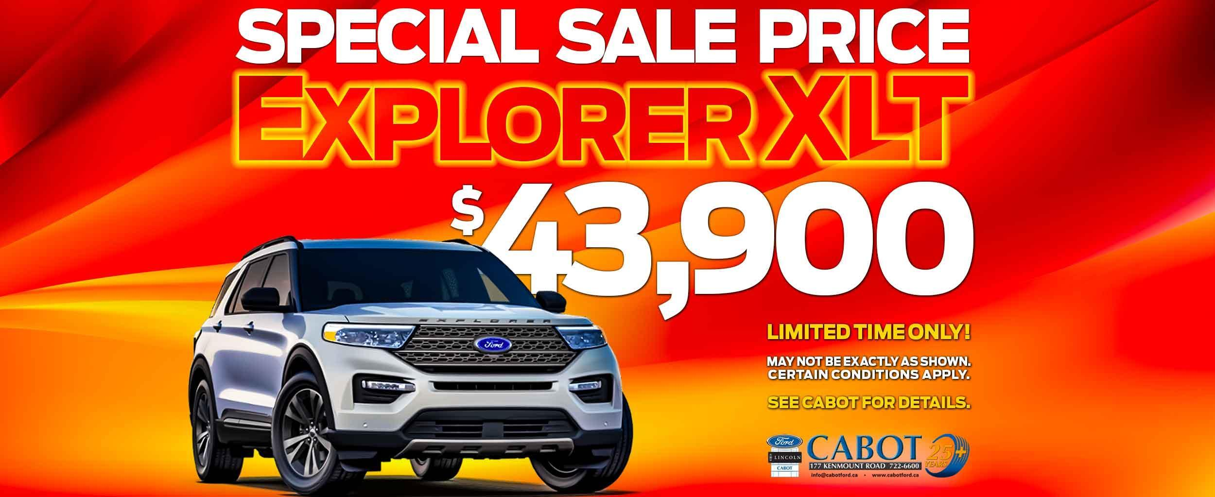 GET THE 2021 FORD EXPLORER XLT FOR JUST $43,900!