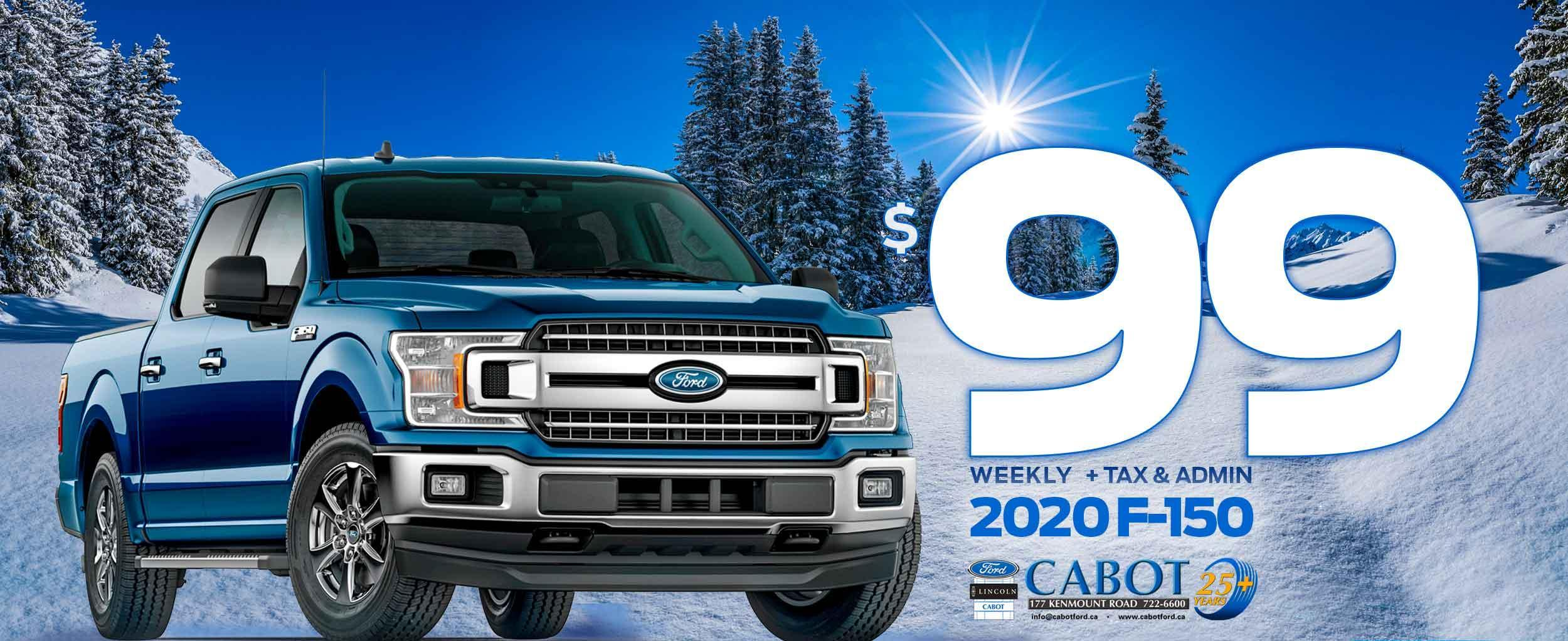 Now get select F-150 XLT 4x4 CREWCABs for just $99 weekly + tax and admin!