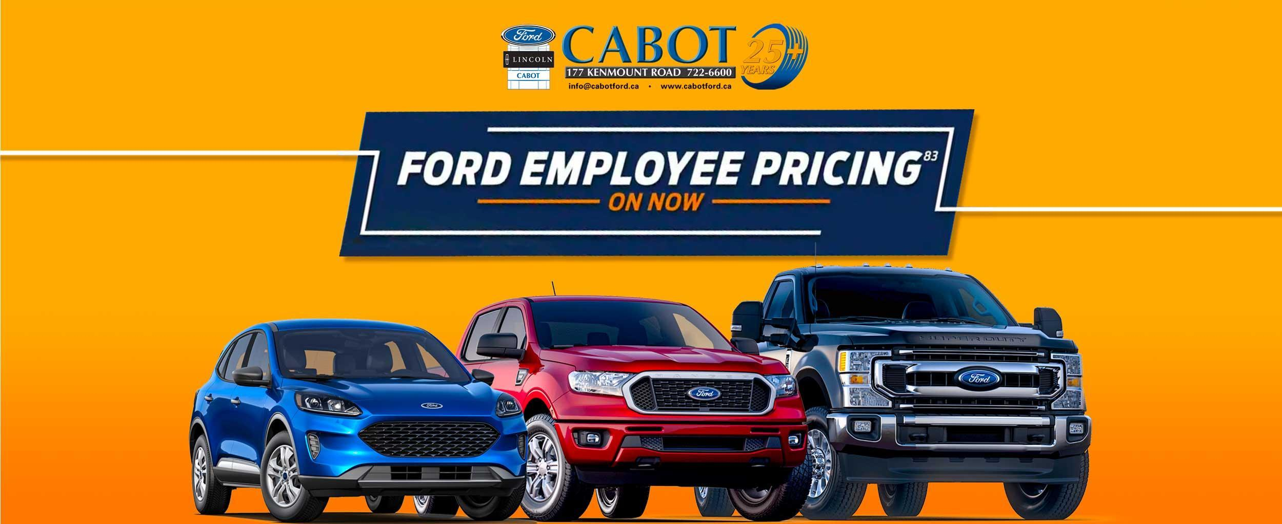 FORD EMPLOYEE PRICING is back! For a limited time only, YOU PAY WHAT WE PAY!