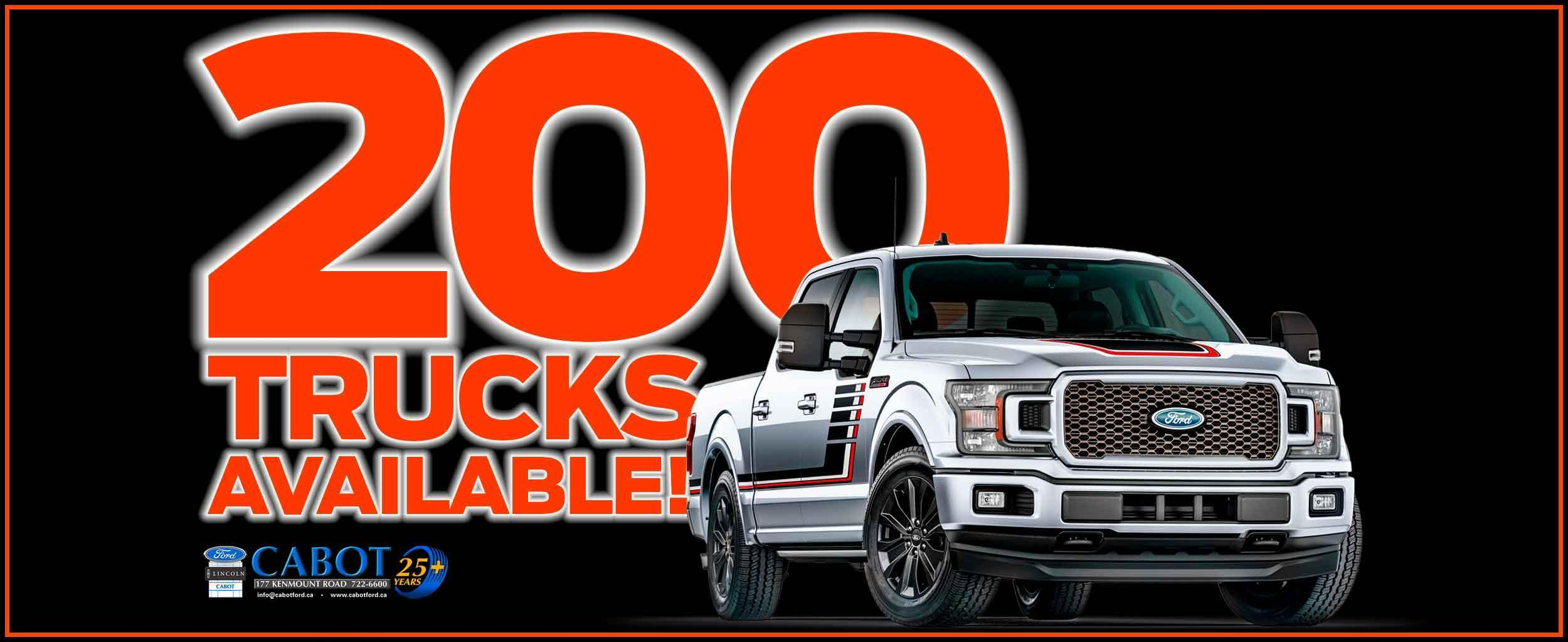 F-150! Super Duty! Ranger! See our incredible selection of 2020 trucks with the models, features, colours, and trim packages you JUST WON'T FIND ANYWHERE ELSE!