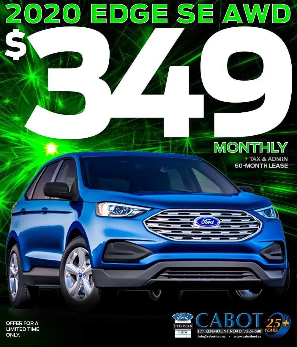 2020 Edge SE AWD for $349 monthly!