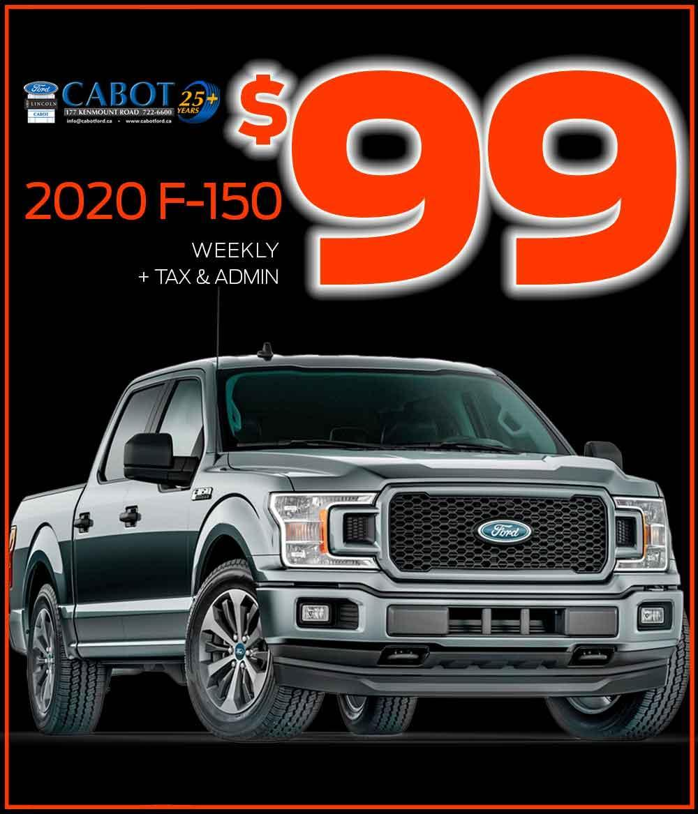 """SCARY BIG SAVINGS on the 2020 F-150 STX 4x4 CREWCAB! JUST $99 WEEKLY + tax and admin!  20"""" wheels, honeycomb grill, 8"""" touchscreen, and so much more."""