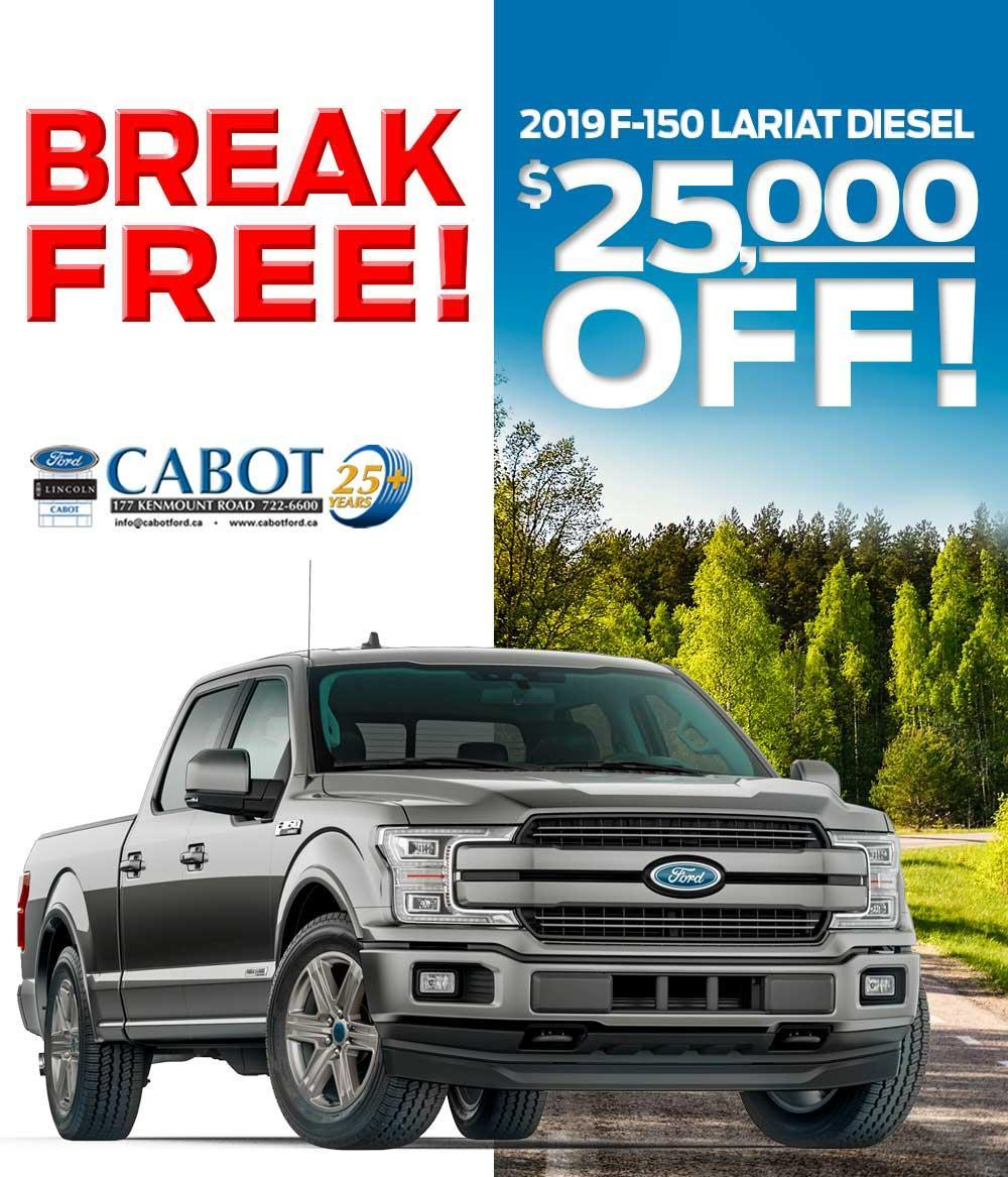 $25,000 OFF THE 2019 F-150 DIESEL Lariat SuperCrew!