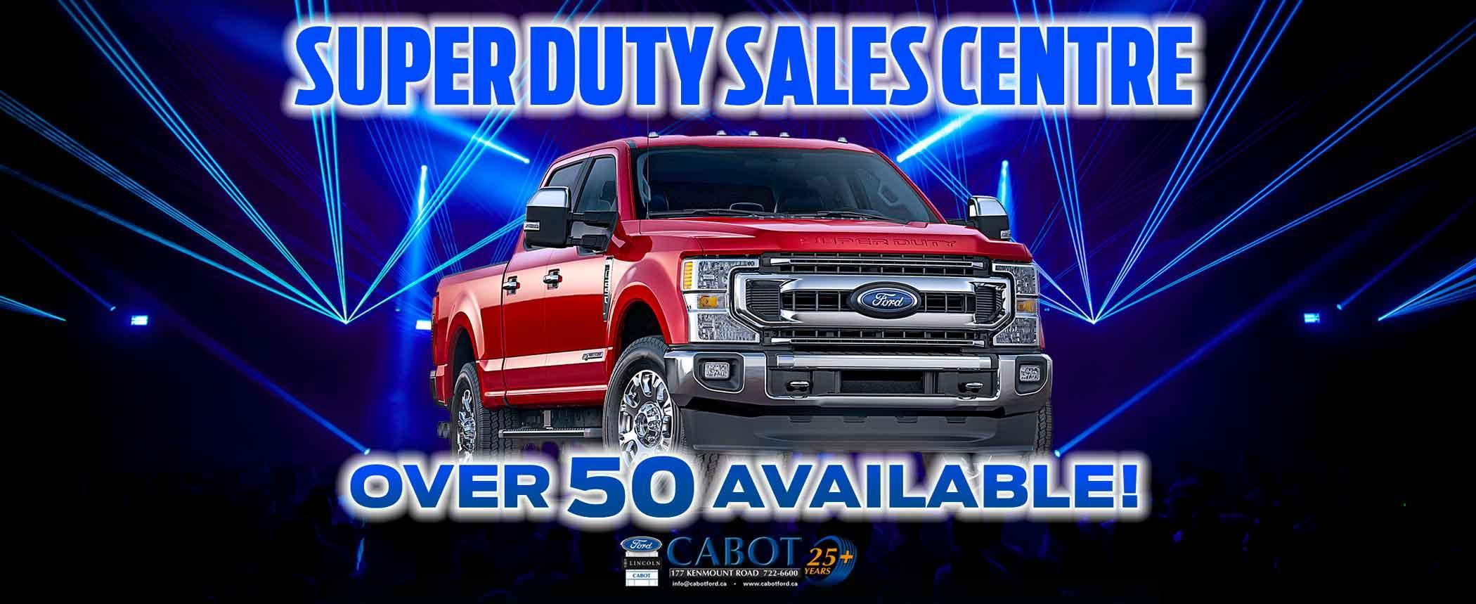 Cabot is ATLANTIC CANADA'S SUPER DUTY SALES CENTRE! 177 Kenmount Road • 722-6600