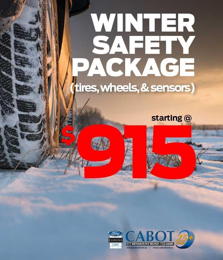 Winter Safety Packages starting at $915! 722-6600. 177 Kenmount Road.