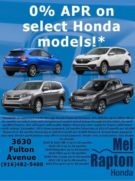 0% Offer - Mel Rapton Honda