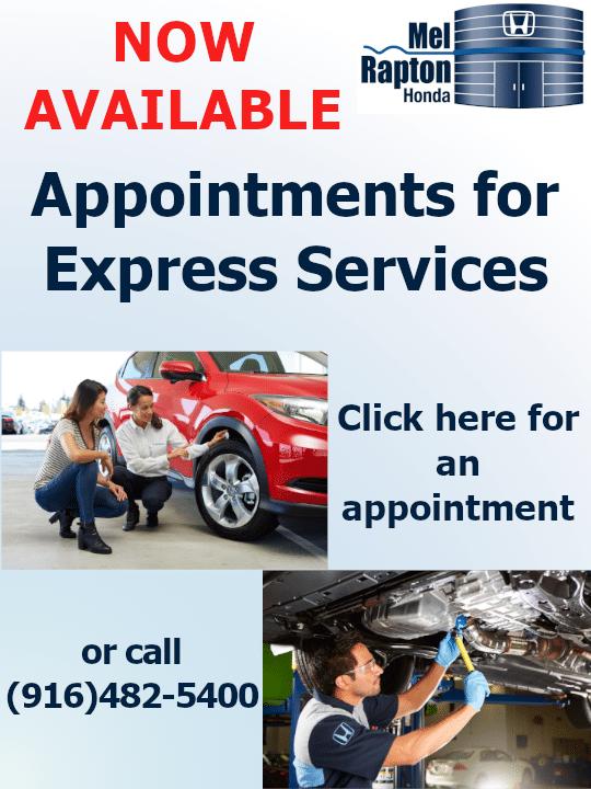 Mel Rapton Honda Express Appointment