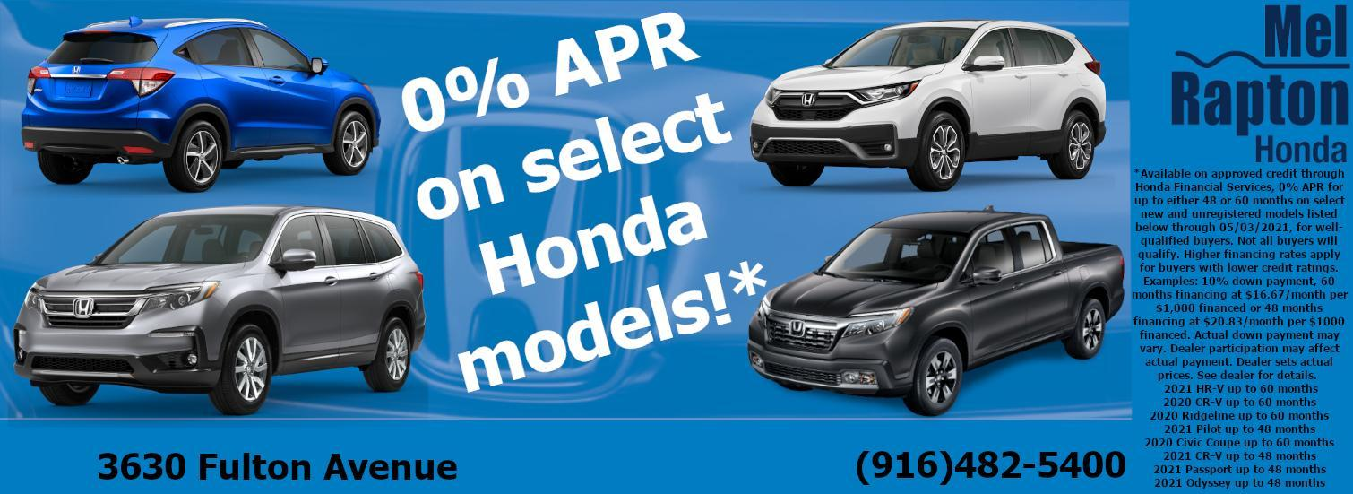 Mel Rapton Honda - 0% APR Offer
