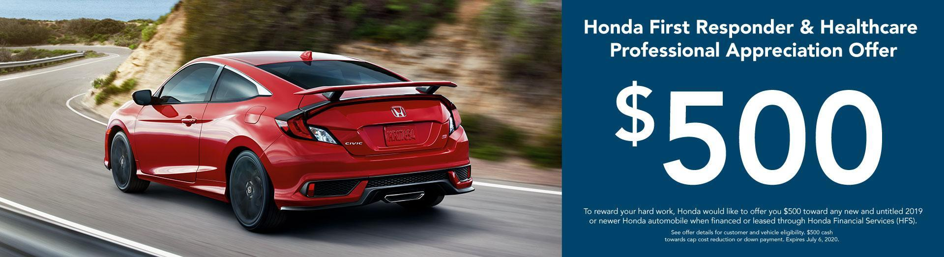 Mel Rapton Honda Supports 1st Responders