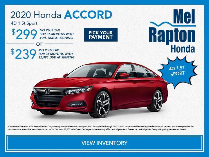 2020 Honda Accord 1.5t Sport