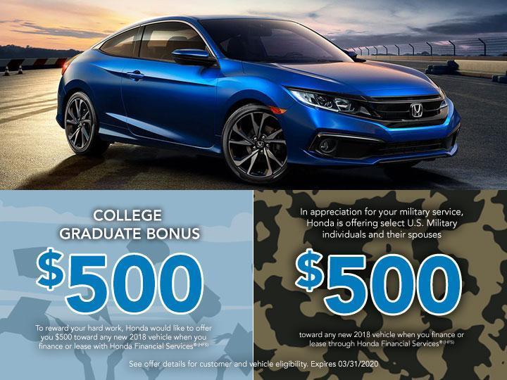 College & Military Bonus