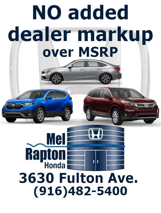 No Added Dealer Markup at Mel Rapton Honda