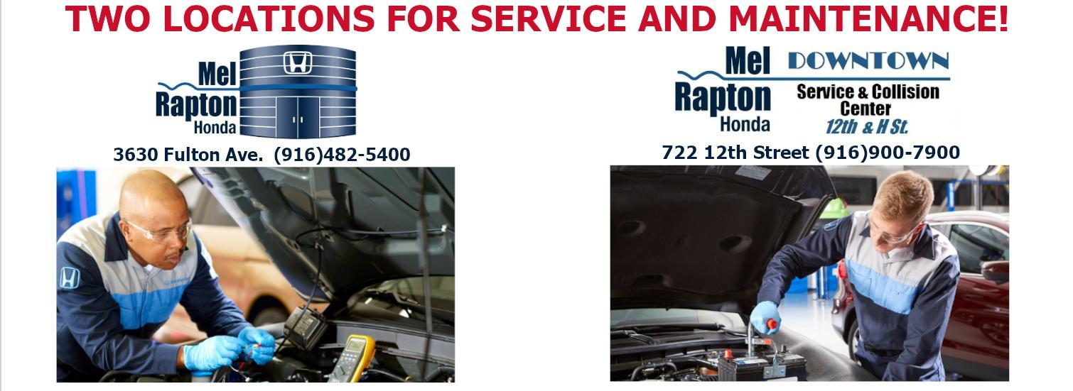 Two Service Locations - Mel Rapton Honda