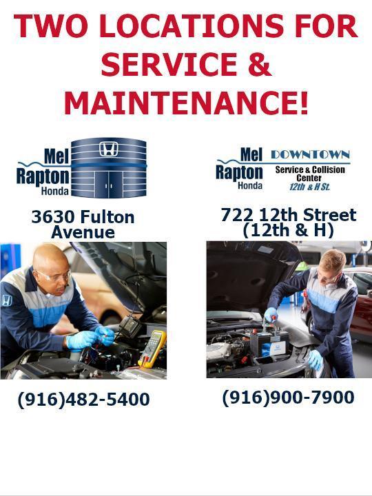 Two Service Locations - Mel Rapton Honda