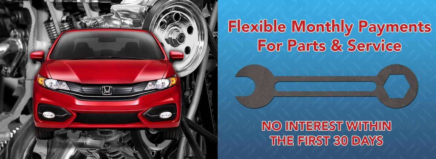 Flexible Monthly Payments for Service and Parts