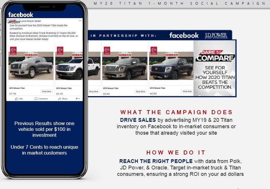 2020 Nissan Titan 1-Month Social Campaign