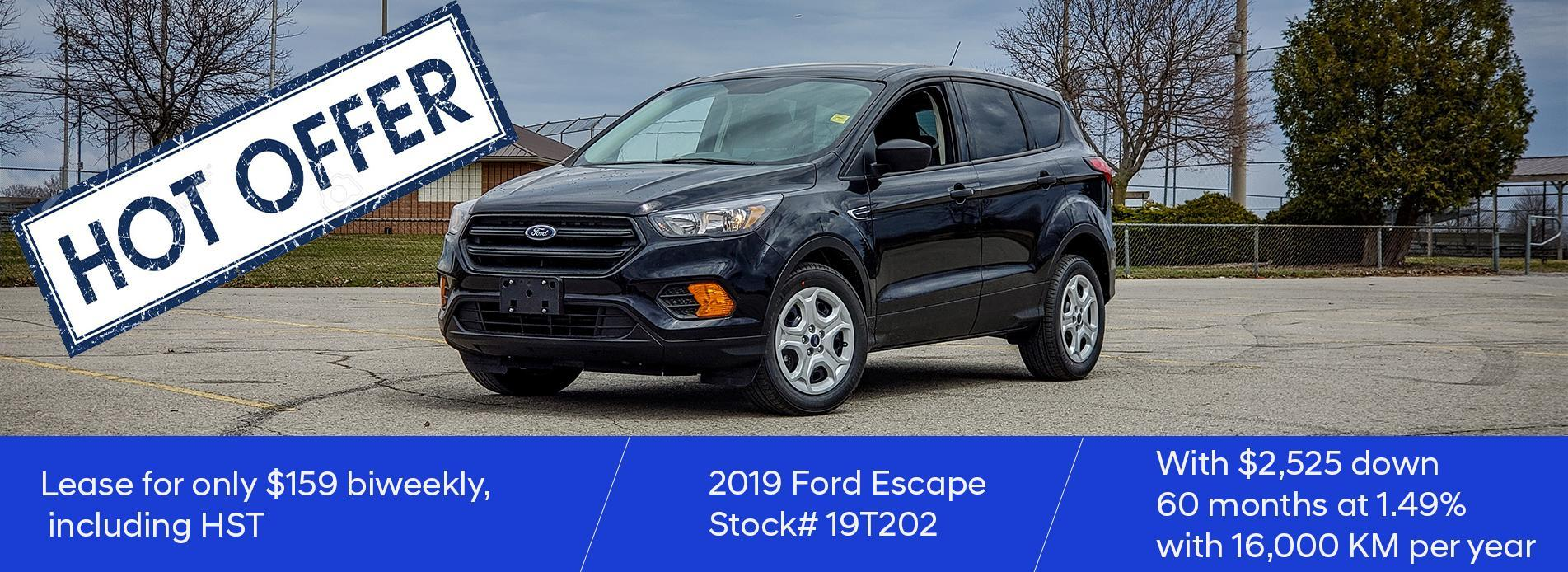 2019 Escape slider desktop
