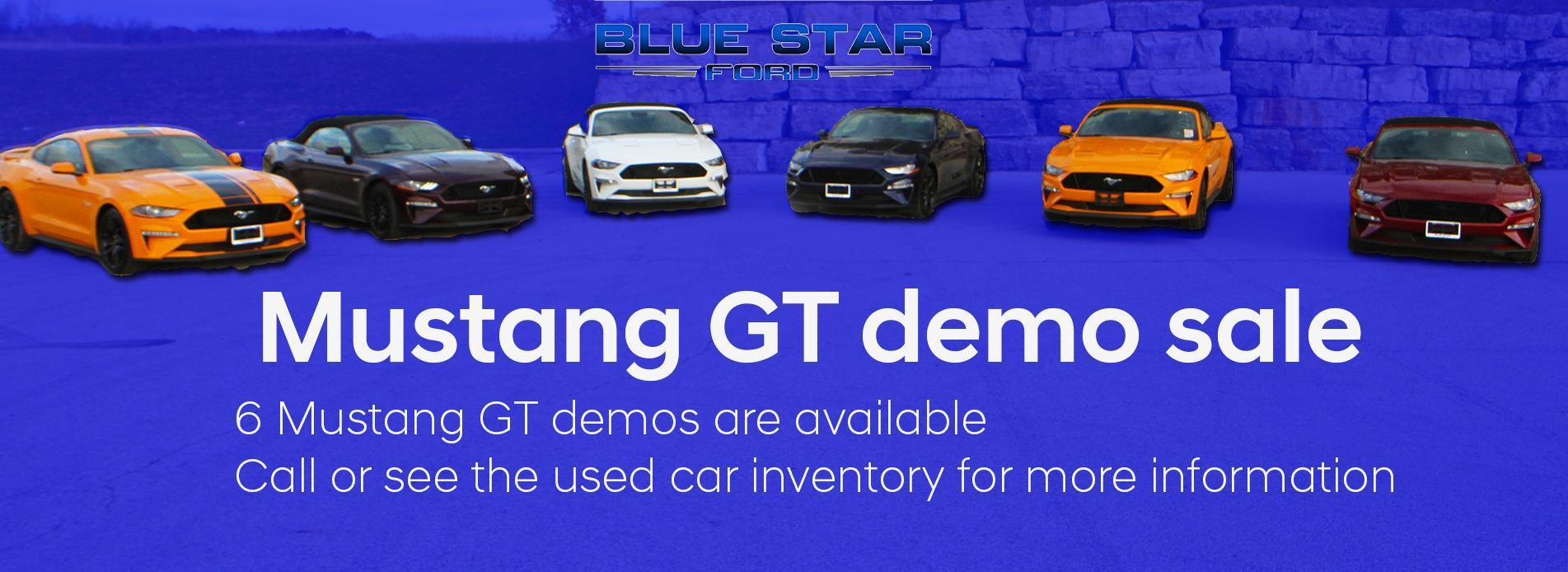 Mustang demo sale
