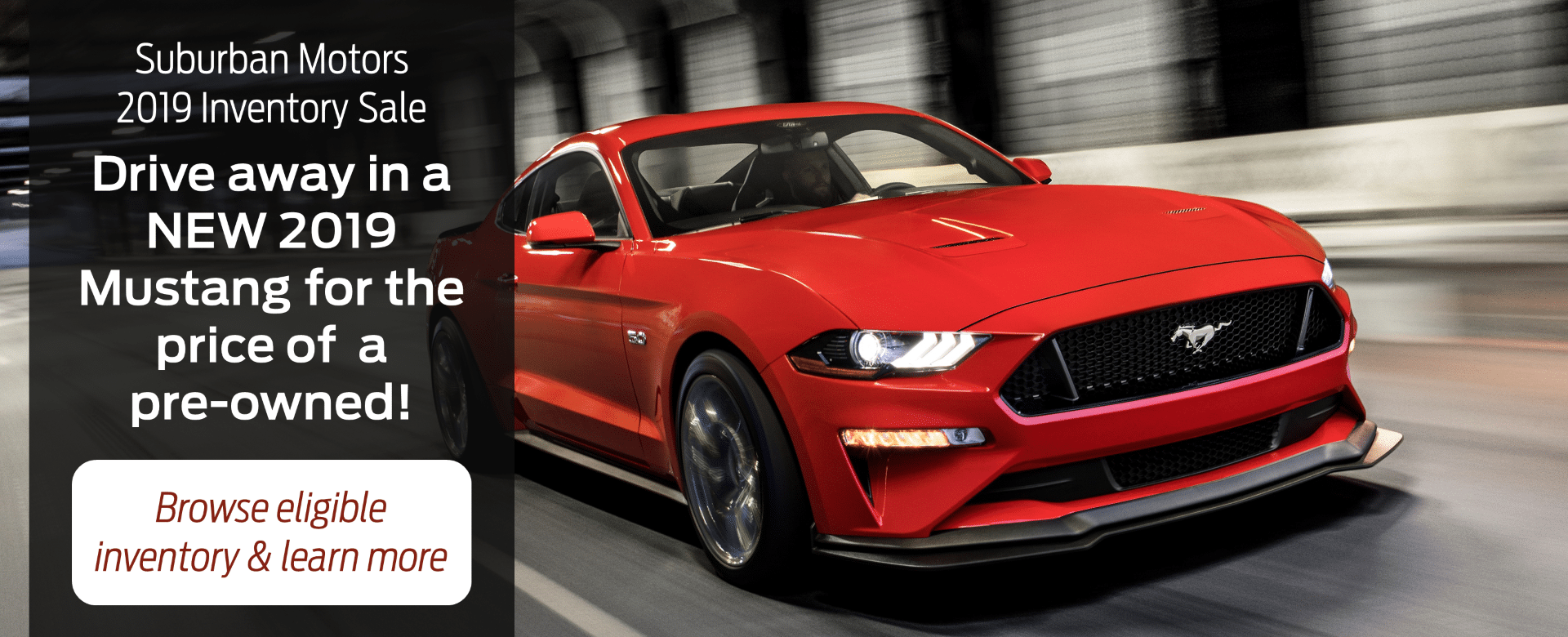 2019 Mustang Inventory Clearout