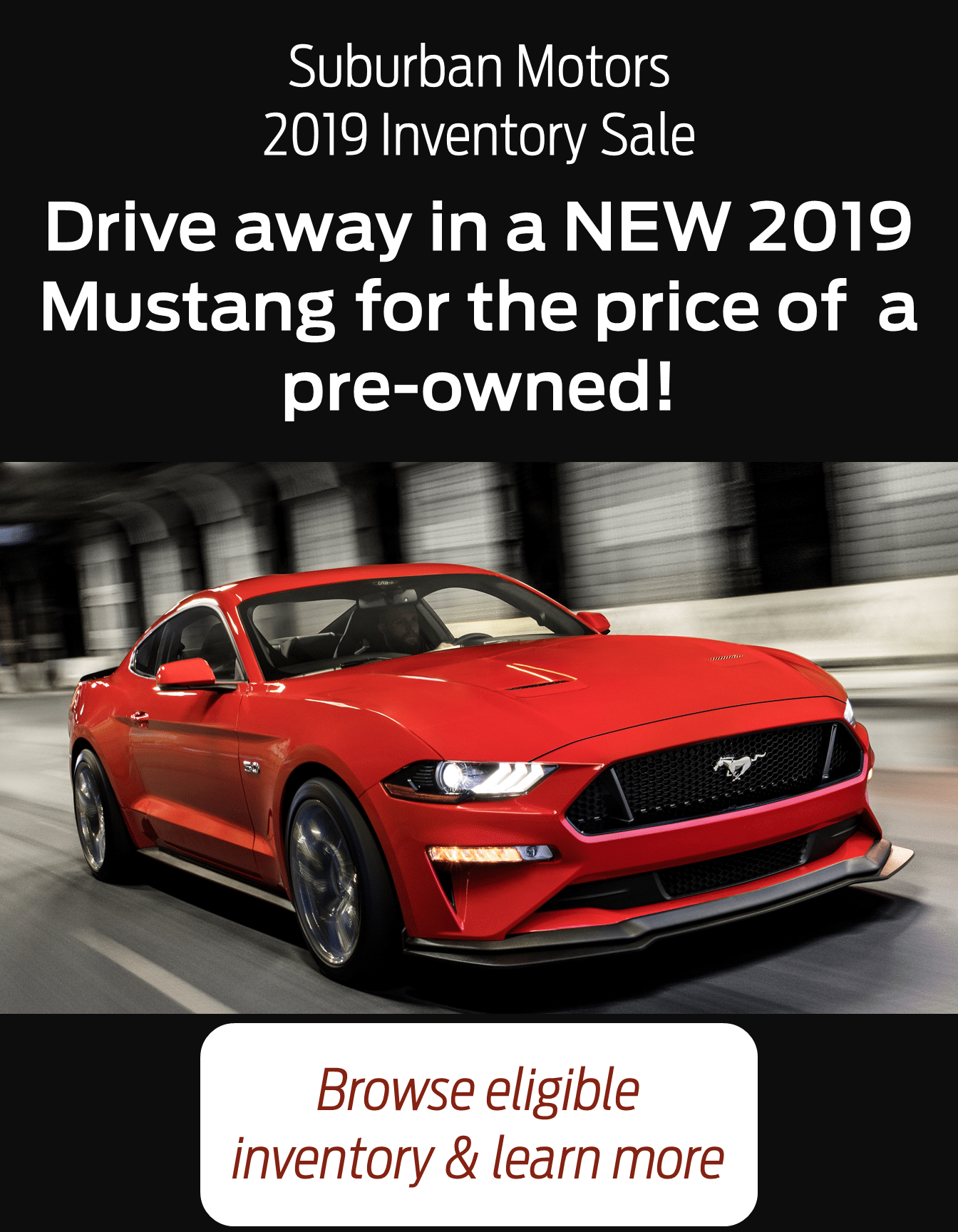 2019 Mustang Clearout