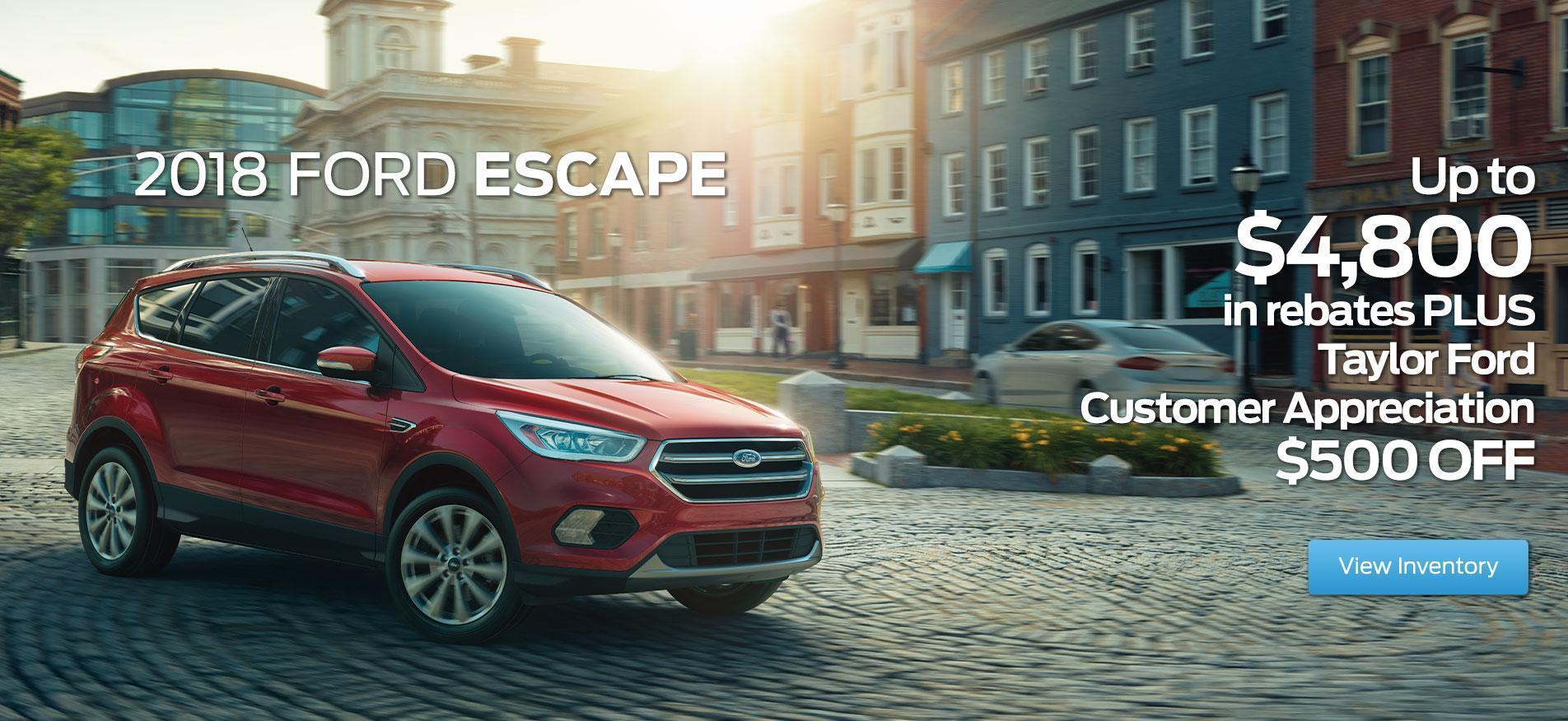 2018 Ford Escape Red