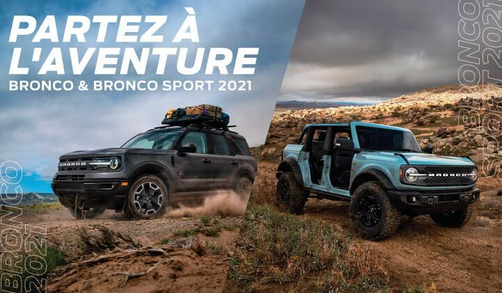 Bronco et Bronco Sport