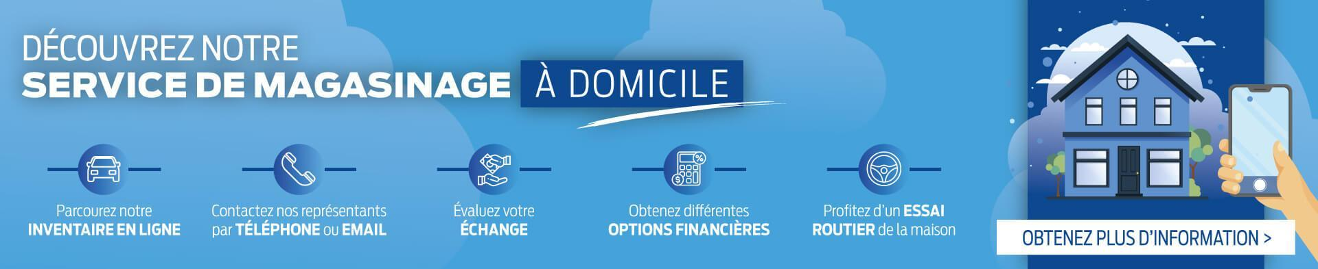 Service de magasinage à domicile