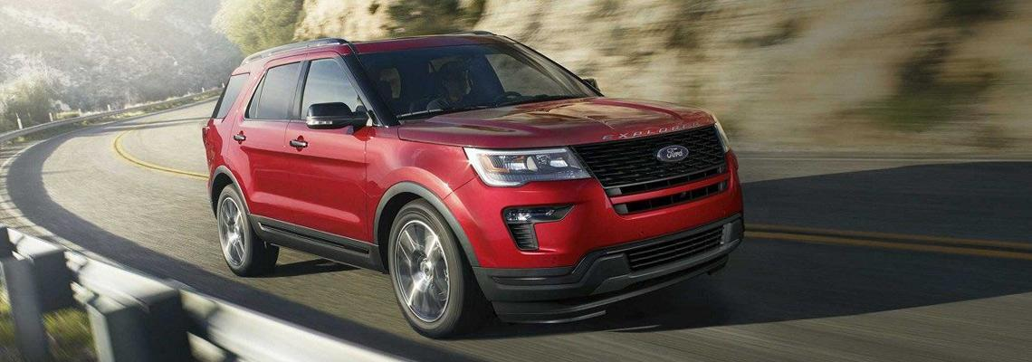 New 2018 Ford Explorer Red