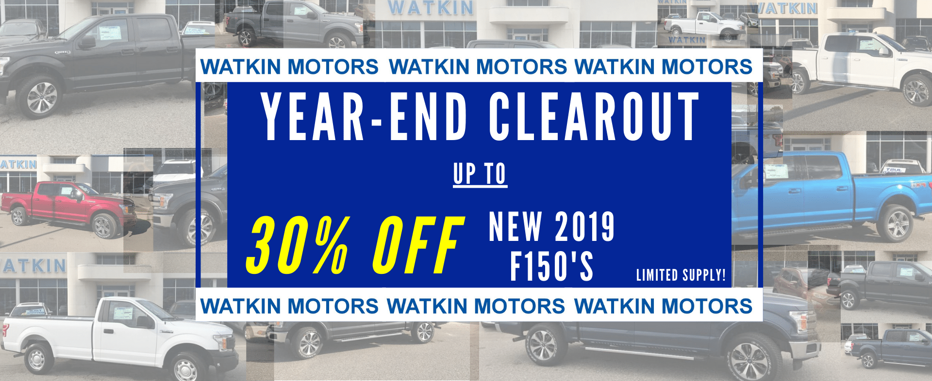 up to 30% off new 2019 F150's