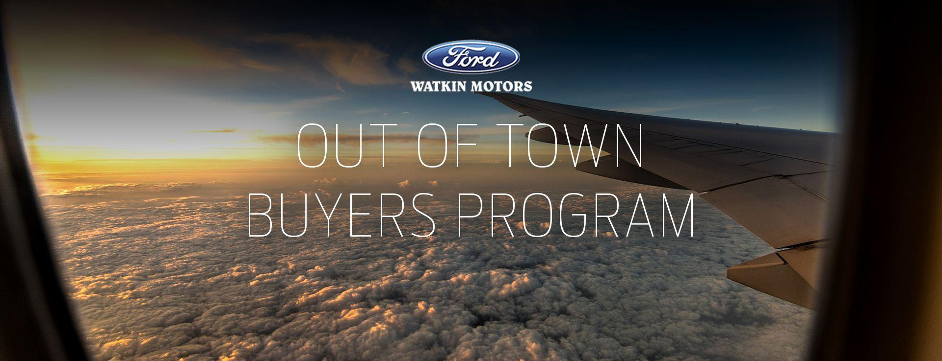Out of Town Buyers Program