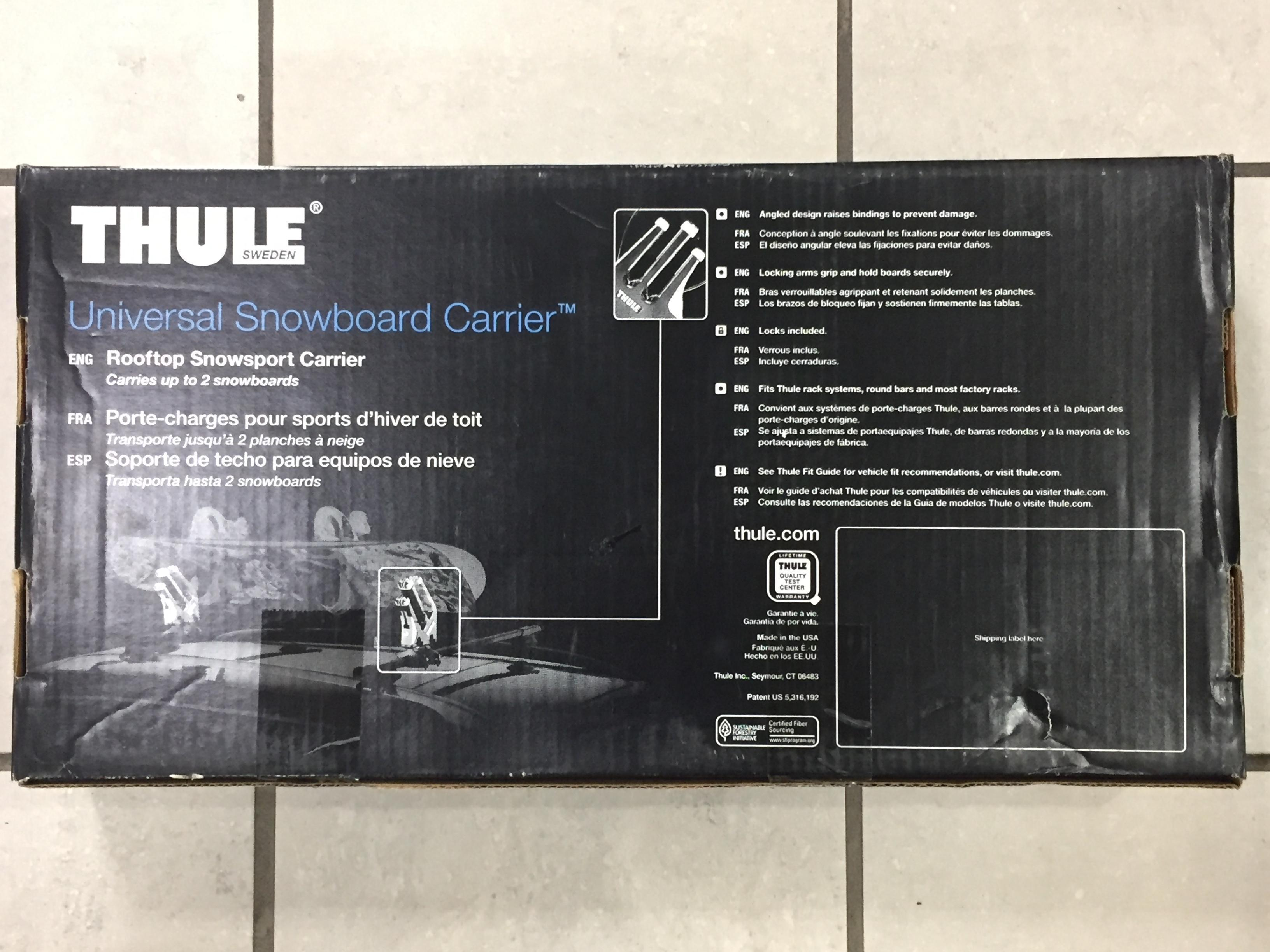 Thule Rooftop snowboard carrier