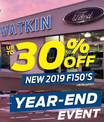 30% off 2019 F150's