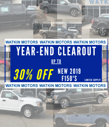 up to 30% off of new 2019 F150's