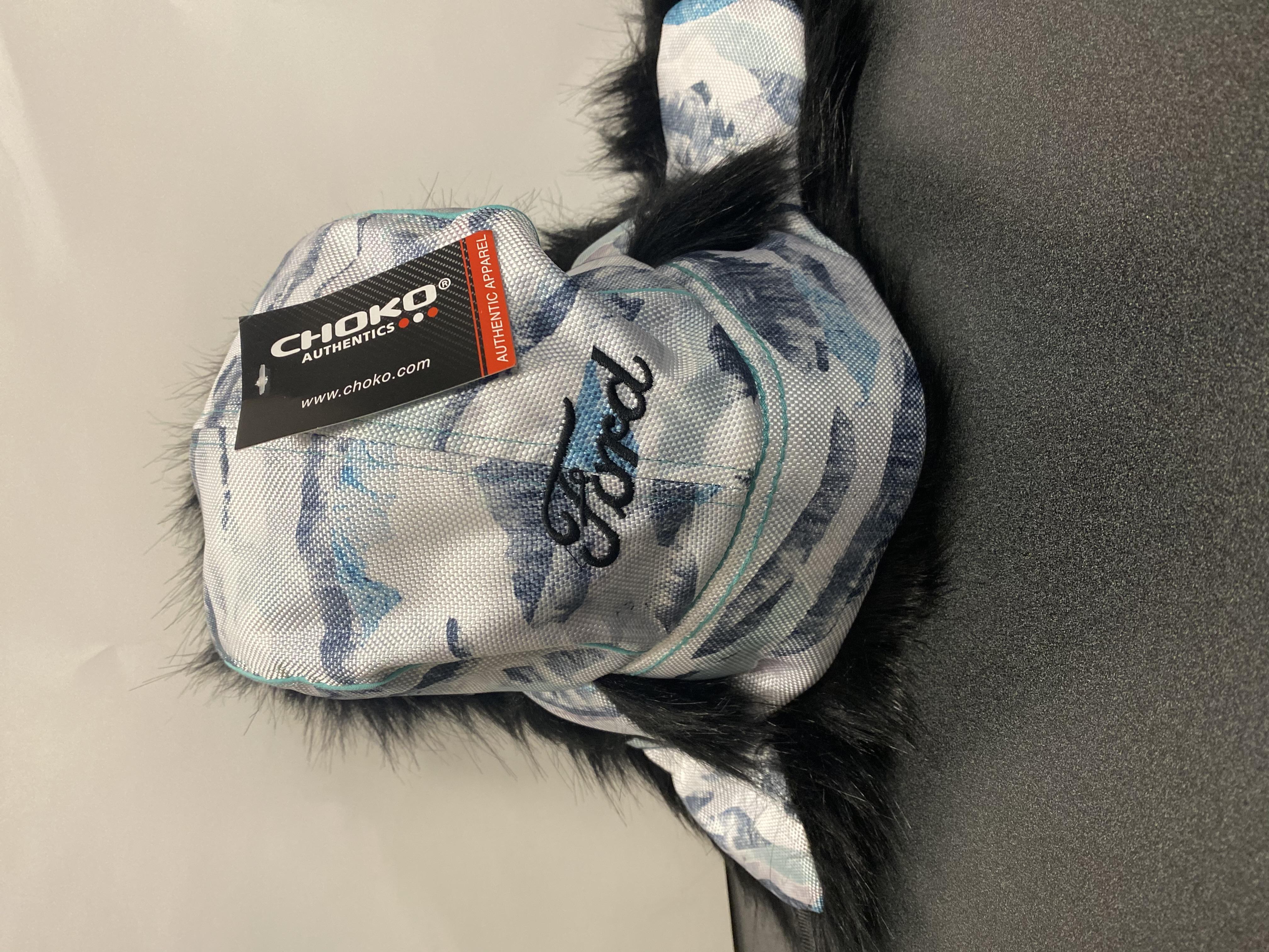Back of trapper hat