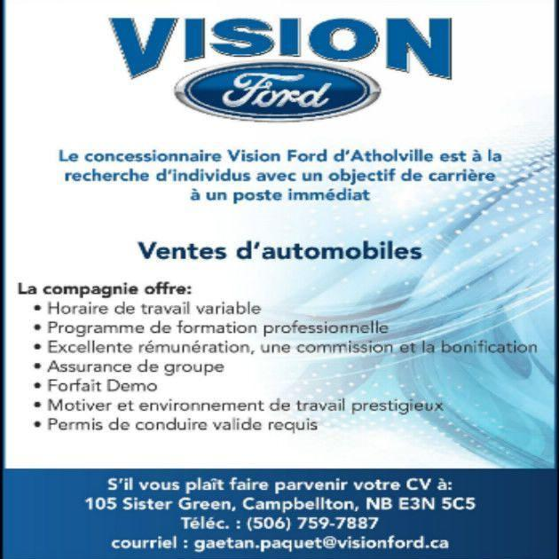 Offre d'emploi Vision Ford