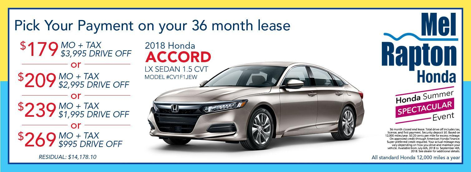 2018 Accord Lease Offers