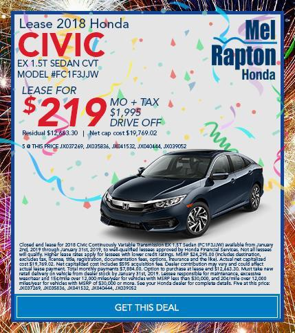 2018 Civic Offer