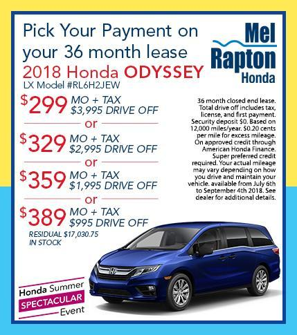 Honda Lease Offer