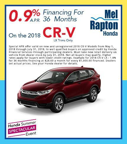 2018 CR-V LX  Finance Offer