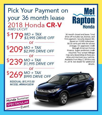 2018 CR-V Lease Offers