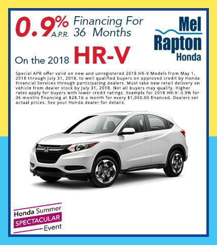 2018 HR-V Finance Offer