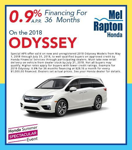 2018 Odyssey Finance Offer