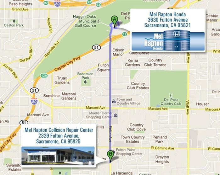 Collision Repair   Mel Rapton Honda Sacramento, CA