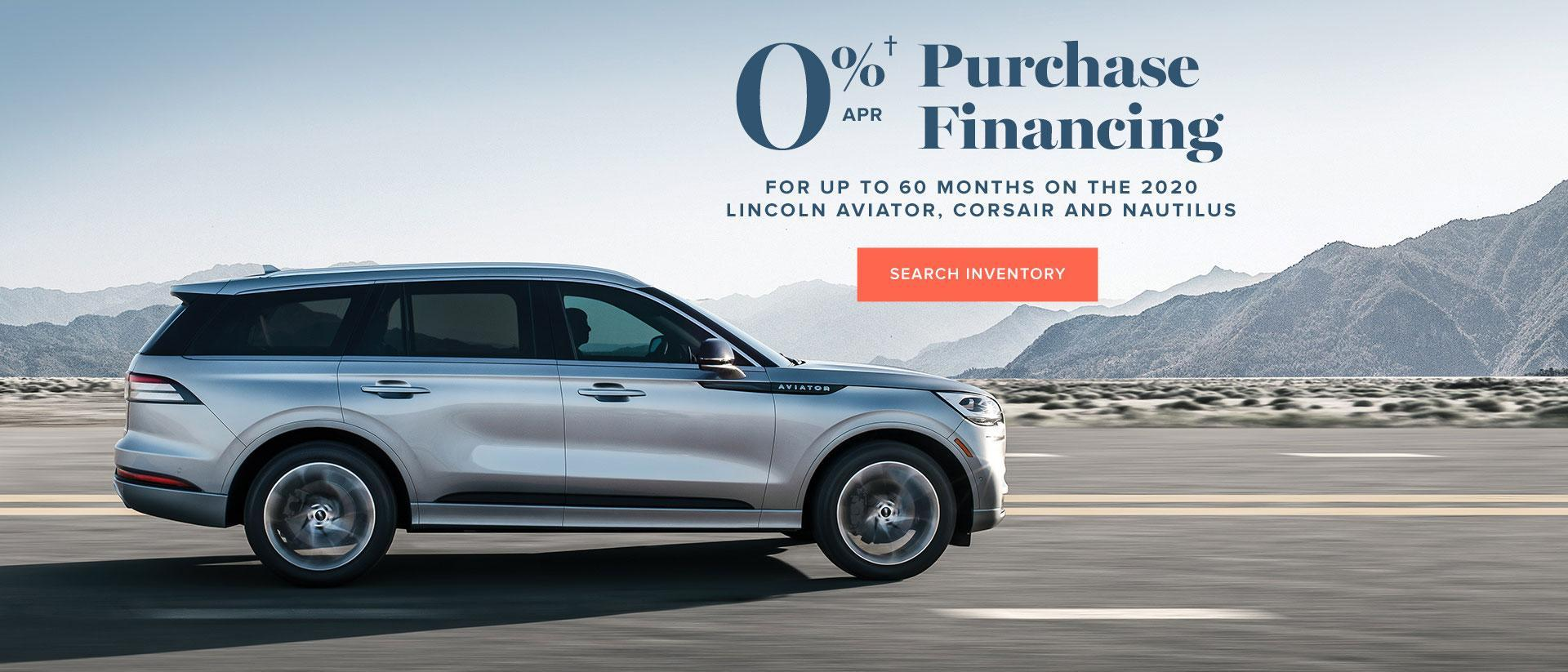 0% Purchase Financing | Select Models | Lincoln of Canada