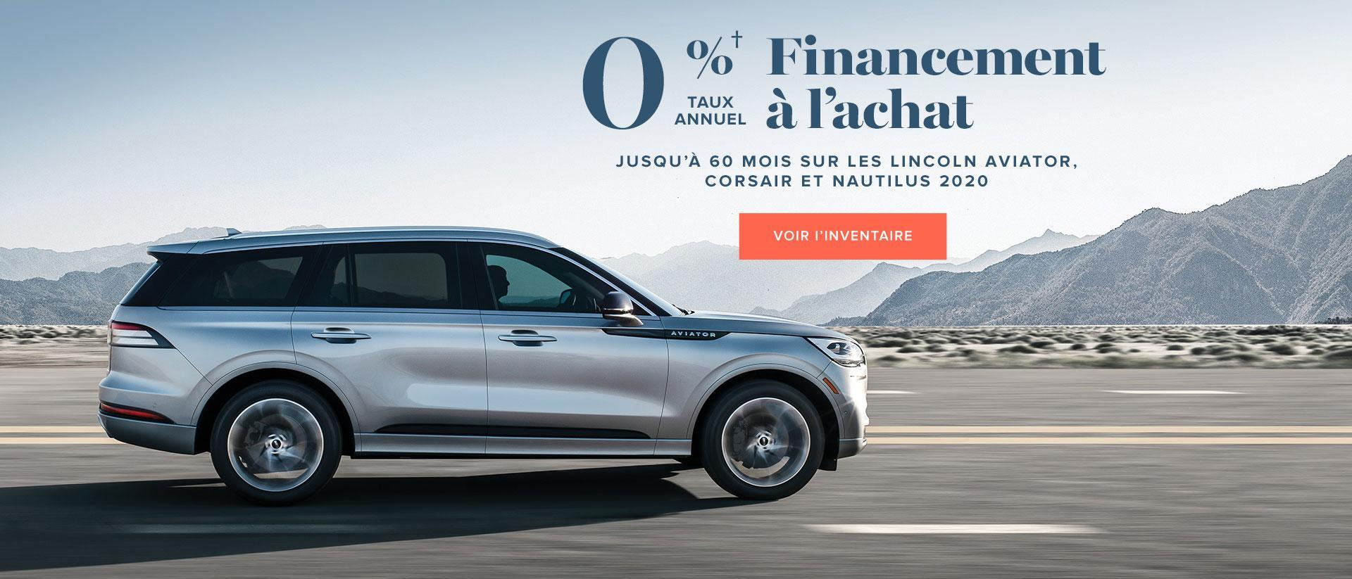 0% Financement a l'achat | Select Models | Lincoln of Canada