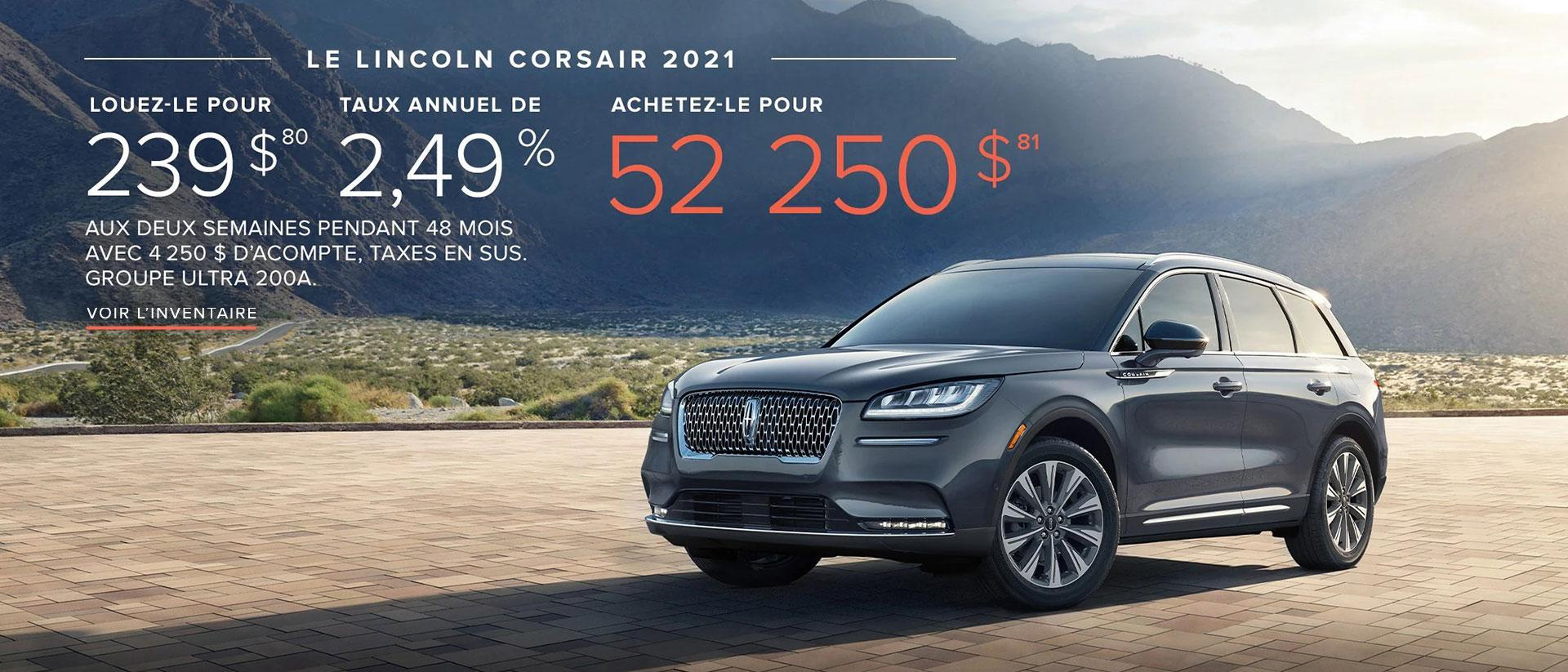 Lincoln Corsair Offer | Lincoln of Canada