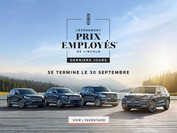 Lincoln Employee Pricing Final Days | Lincoln of Canada